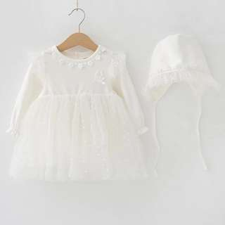 Baby dress special gift white occassion