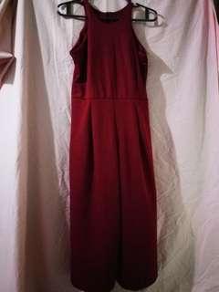Maroon Jumpsuit Dress