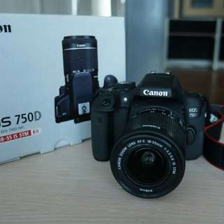 Canon eos 750D kit 18-55mm f3.5-5.6 IS STM WIFI Kredit tanpa DP