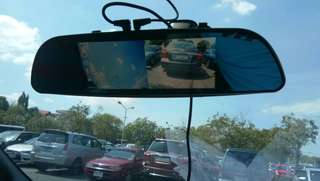 Rear View Mirror Camera Front and Rear Camera Recording