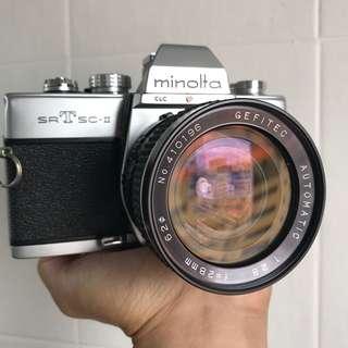 Minolta SRT SC-II Film SLR + 28mm F2.8