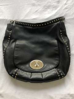 Authentic Coach Circle Hobo Studded