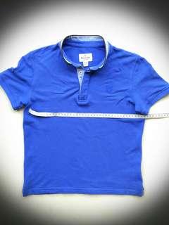 Massimo Dutti Boy Mandarin Collar Polo Tee