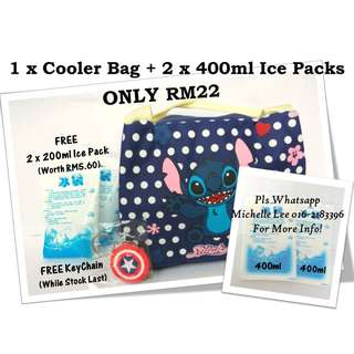 Stitch Cartoon Thermal Insulated Children Hot Lunch Cooler Bag Breast Milk Ice Pack Storage
