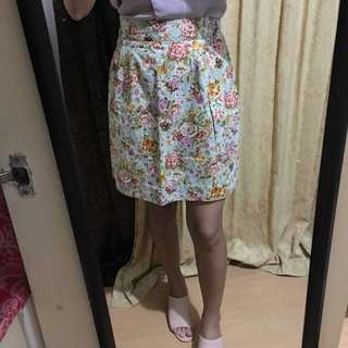 FLORAL OFFICE SKIRT