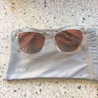 Zara Clear/Pink Sunglasses