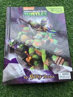 Teenage Mutant Ninja Turtles My Busy Books Figurine and Mat