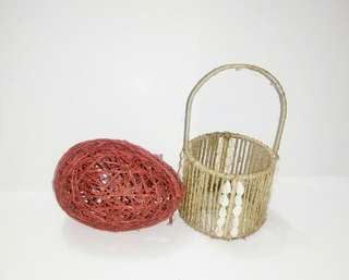 REPRICED! Abaca gift basket/ trinket container