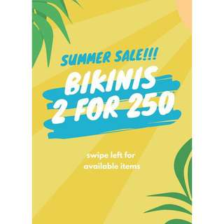 Bikini Tops 2 for 250! Swipe -->