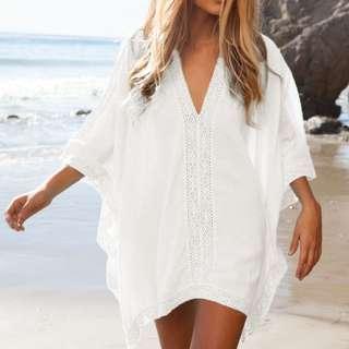 SERENITY BEACH TOP Bikini Outer Luaran Bikini Swimsuit Lingerie Blouse Baju Pantai Outerwear Sheer