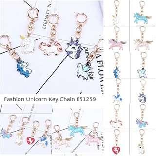 Fashion Unicorn Shape Decorated Key Chain E51259