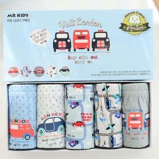 Boy Underwear - London Car (Korea Brand)