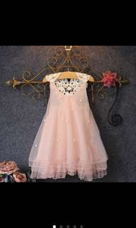 Kids Pink Princess Dress