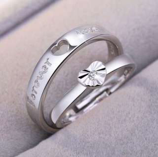 Silver Adjustable Couple Rings Jewelry Affectionate Lovers Rings
