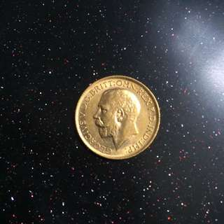 UK Britain 1914 George gold sovereign coin