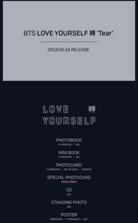 [Non-profit] Opening Pre orders for BTS Love Yourself 轉 Tear!