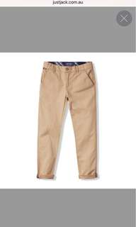 JUST JACK BOY CHINO PANTS TAN COLOR SIZE 10 bnwt
