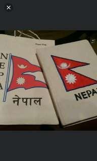 出售全新handmade paper紙袋+記簿, 尼泊爾製造,送禮自用佳宜