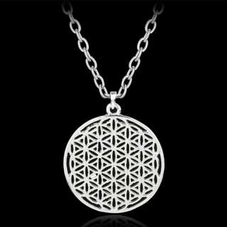 Sacred Geometry Flower Of Life Pendant with Chain