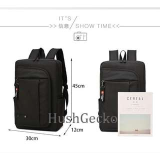 HushGecko 2018 New Multifunction 15.6 Inch waterproof Travel Business Backpack with Large Zippered Compartments Backpack Polyester Bags for Men Women Laptop Bag