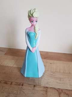 Empty Elsa shower gel storage container