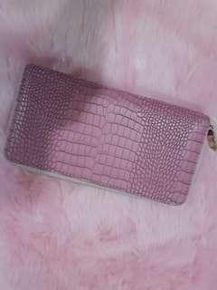 Pink large wallet