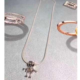 Bella Bot Charm Pendant Necklace (Authentic  S925 Silver)