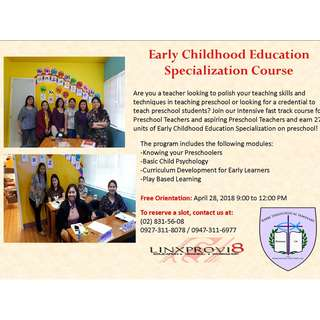 Early Childhood Education Specialization Course
