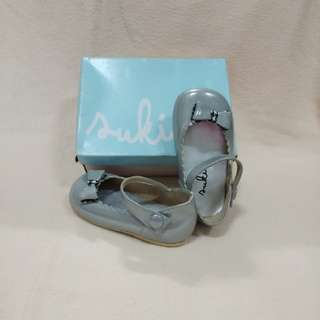 Silver girls shoes