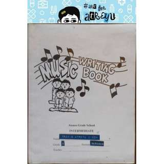 Music Writing Book: Ateneo Grade School Intermediate (2)