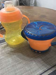 Nuby sippy cup and snack cup