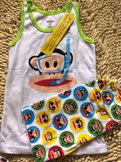 BN Paul frank sleeveless home wear pj set 4-6yrs old