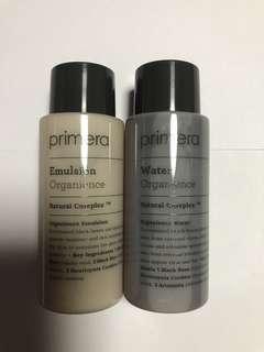 韓國 Primera Organience Water & Emulsion Sample