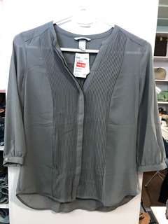 H&M Grey Blouse - BN with tags