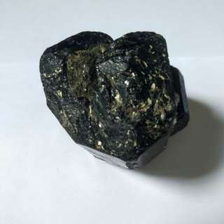 (Rare Specimen) Black Tourmaline with Pyrite Crystal