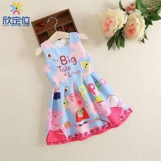 APR 18 KIDS PEPPA PIG DRESS (DYG)