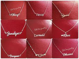 Personalized 92.5 Italy silver name necklace