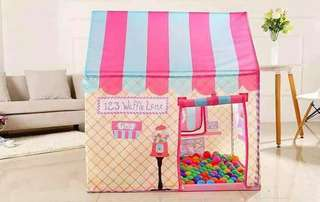 Kiddie tent with 50 balls