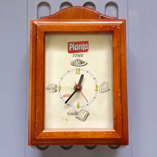 Planta Time Wooden Vtg Wall Clock
