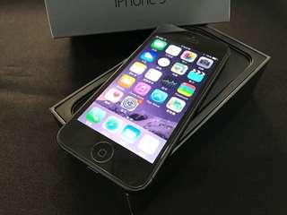 黑色iPhone5 32G 盒裝 高雄面交 蝦皮可