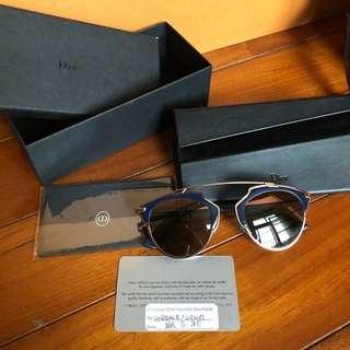 🚚 Dior so real 藍金水銀墨鏡 太陽眼鏡