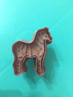 烘培3D立體曲奇彈弓壓模-斑馬