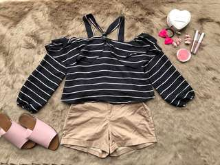 black stripes crop top