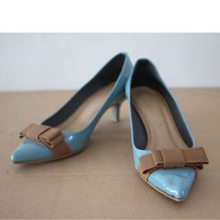 Summit Blue Mid Office Heels NEW