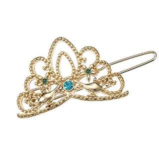 日本🇯🇵迪士尼 阿拉丁茉莉公主 皇冠髮夾