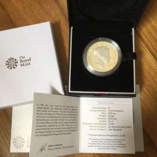 U.K. Britain 2013 Royal Baby Prince George 5 pound proof coin