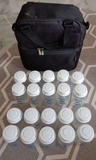 Breastfeeding storage bottles & cooler bag