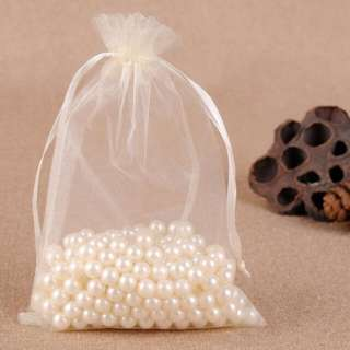 Cream Organza Bag - 10 x 15cm