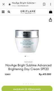 Novage bright sublime day cream