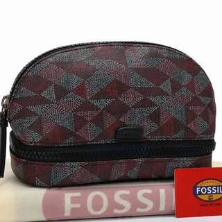 SALE !! FOSSIL Pouch Zipper Middle 667B#*